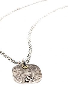Morgan & French Personalised Fingerprint Square Chain Necklace