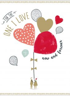 Art File The One I Love Valentine's Day Card
