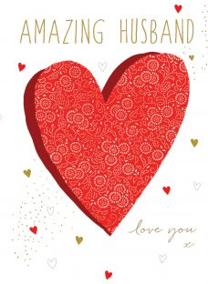 Portfolio Amazing Husband Valentine's Day Card
