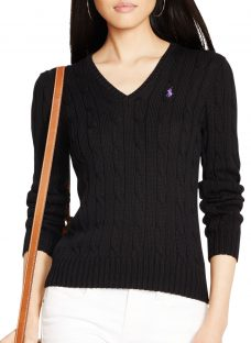 Polo Ralph Lauren V-Neck Cable Knit Jumper