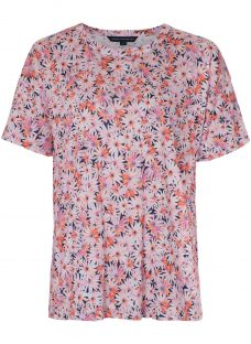 French Connection Bacongo Daisy Jersey T-Shirt