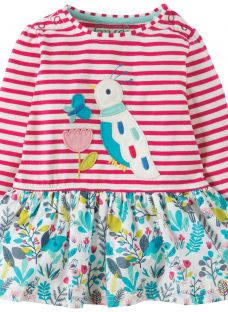 Frugi Organic Baby Bird Hetty Hotch Potch Dress
