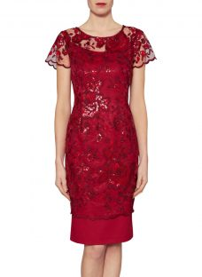 Gina Bacconi Annabelle Embroidered Sequin Dress