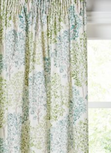 John Lewis Leckford Trees Pair Lined Pencil Pleat Curtains