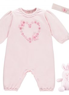 Emile et Rose Marnie All-in-One with Headband Two Piece Set