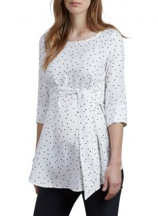 Isabella Oliver Selina Star Print Tie Maternity Top
