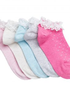 John Lewis Girls' Lace Trim Trainer Liners