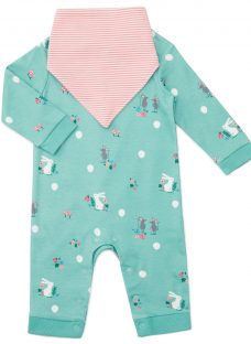 John Lewis Baby Bunny & Mouse Romper with Bib
