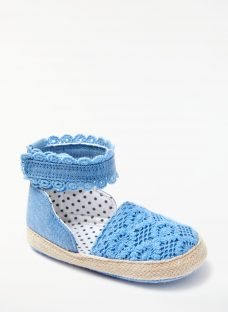 John Lewis Baby Chambray Espadrille Shoes