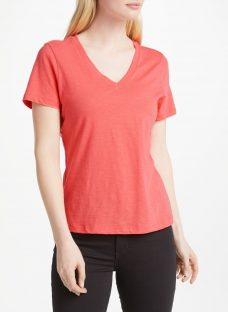 John Lewis V-Neck Short Sleeve Cotton Slub T-Shirt