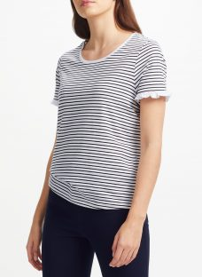 Collection WEEKEND by John Lewis Pure Cotton Frill Sleeve T-Shirt