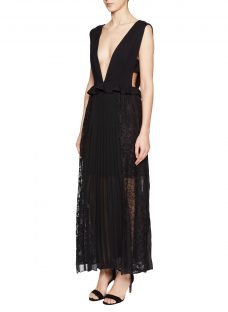 French Connection Angelina Pleated Jersey Dress