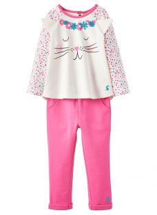 Baby Joule Baby Amalie Cat Top and Trousers Set