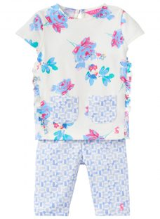 Baby Joule Baby Paula Posy Floral Top and Leggings Set