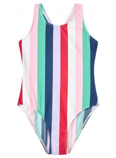 John Lewis Girls' Stripe Print Swimsuit