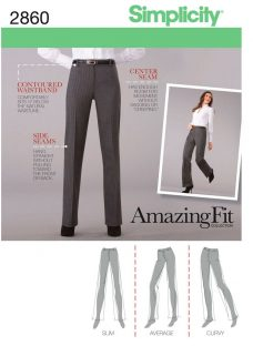 Simplicity Amazing Fit Collection Trousers Dressmaking Leaflet
