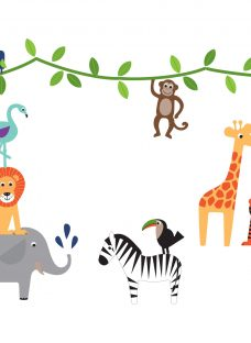 little home at John Lewis Animal Fun Wall Stickers