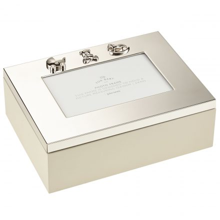 John Lewis Silver Plated Photo Frame Keepsake Box | Buy It 247