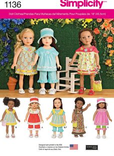Simplicity 18 Doll Everyday Clothes Sewing Pattern
