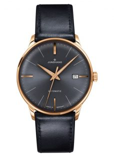 Junghans 027/7513.00 Men's Meister Automatic Date Leather Strap Watch