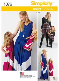Simplicity Easy-To-Sew Child and Misses' Maxi Dress Sewing Pattern