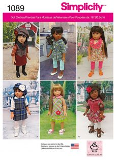 Simplicity 18 Doll Clothes Sewing Pattern