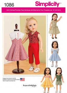 Simplicity Children's 18 Inch Doll Clothes Sewing Pattern
