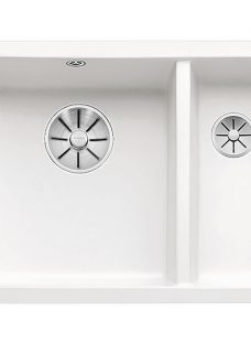 Blanco Subline 350/150 Undermounted 1.5 Bowl Ceramic Kitchen Sink with Left Hand Bowl