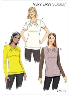 Vogue Women's Darted Top Sewing Pattern