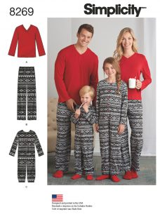 Simplicity Unisex Adult Joggers and Children's Jumpsuit Sewing Pattern