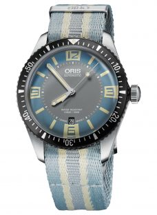 Oris 733 7707 4065-07 5 20 28FC Men's Divers Sixty-Five Automatic Date Fabric Strap Watch