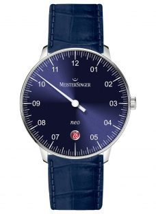MeisterSinger NE908N-SGF14 Unisex Neo Automatic Date Leather Strap Watch