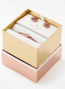 kate spade new york Bangle and Square Stud Earrings Jewellery Set