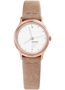 Mondaine Helvetica MH1.l1110.LG Women's Leather Strap Watch