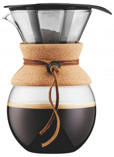 Bodum Pour Over Coffee Maker with Filter and Cork Band