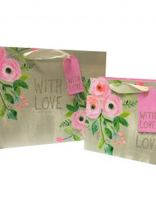 Paper Salad Floral With Love Gift Bag