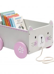 Great Little Trading Co Miss Cat Book Storage Box Cart
