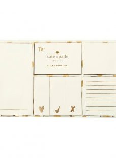 kate spade new york Gold Dot Flamingo Sticky Notes