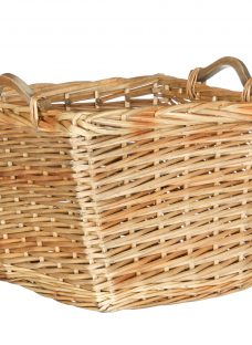 John Lewis Willow Basket with Wooden Handles