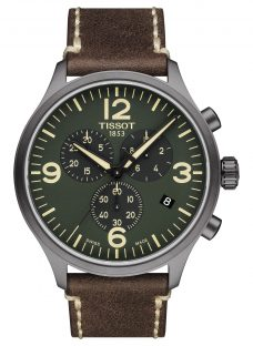 Tissot T1166173609700 Men's Chronograph Date Leather Strap Watch