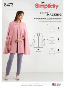 Simplicity Pattern Hacking Collection Women's Knit Cape Sewing Pattern