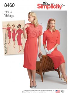 Simplicity Women's Vintage Dress And Jacket Sewing Pattern
