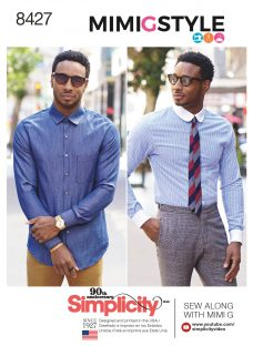 Simplicity Mens' Fitted Shirt Sewing Pattern