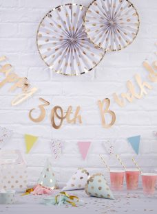 Ginger Ray 30th Birthday Banner Bunting