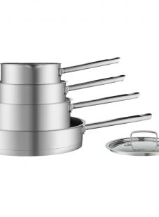 House by John Lewis Stainless Steel Pan Set