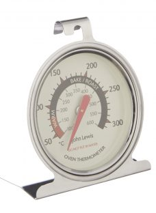 John Lewis & Partners Stainless Steel Kitchen Oven Thermometer
