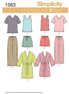 Simplicity 2 Hour Nightwear Sewing Leaflet