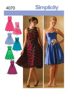 Simplicity Cocktail Dresses Sewing Pattern