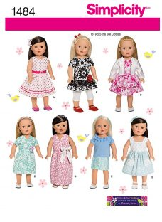 Simplicity Craft Doll Clothes Sewing Pattern