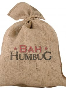 'Bah Humbug' Traditional Jute Christmas Santa Sack